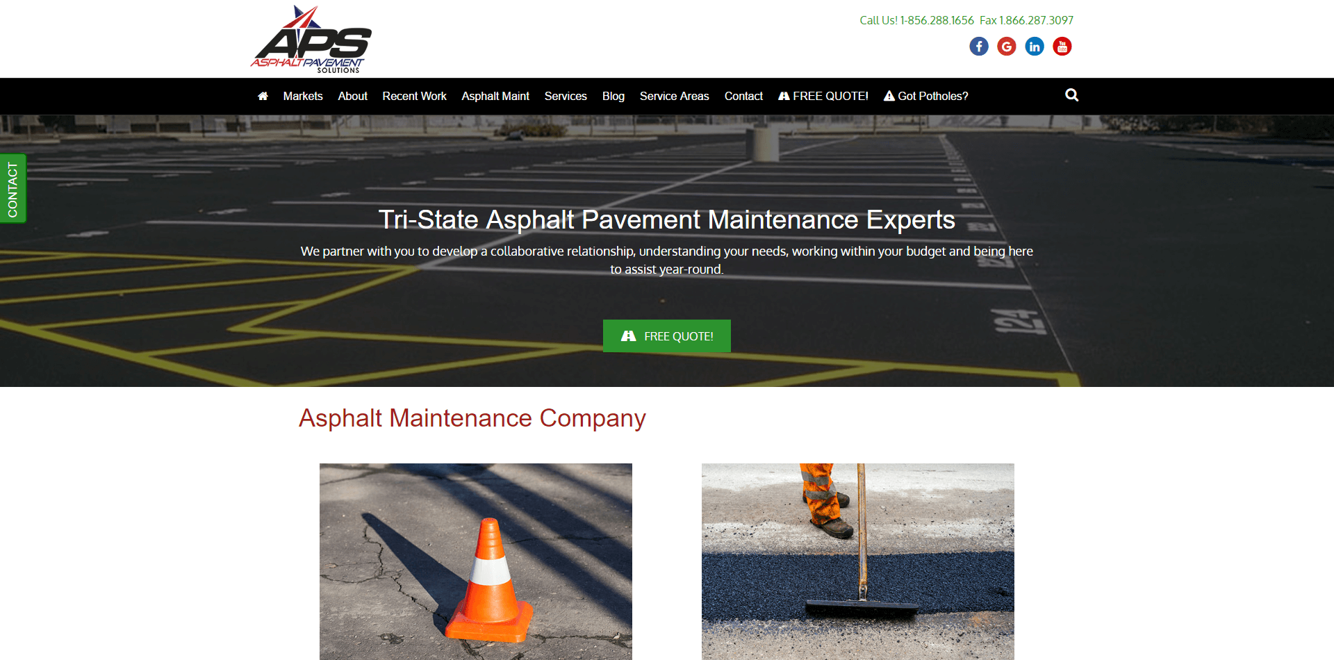 asphaltpavementsolutions.com screenshot