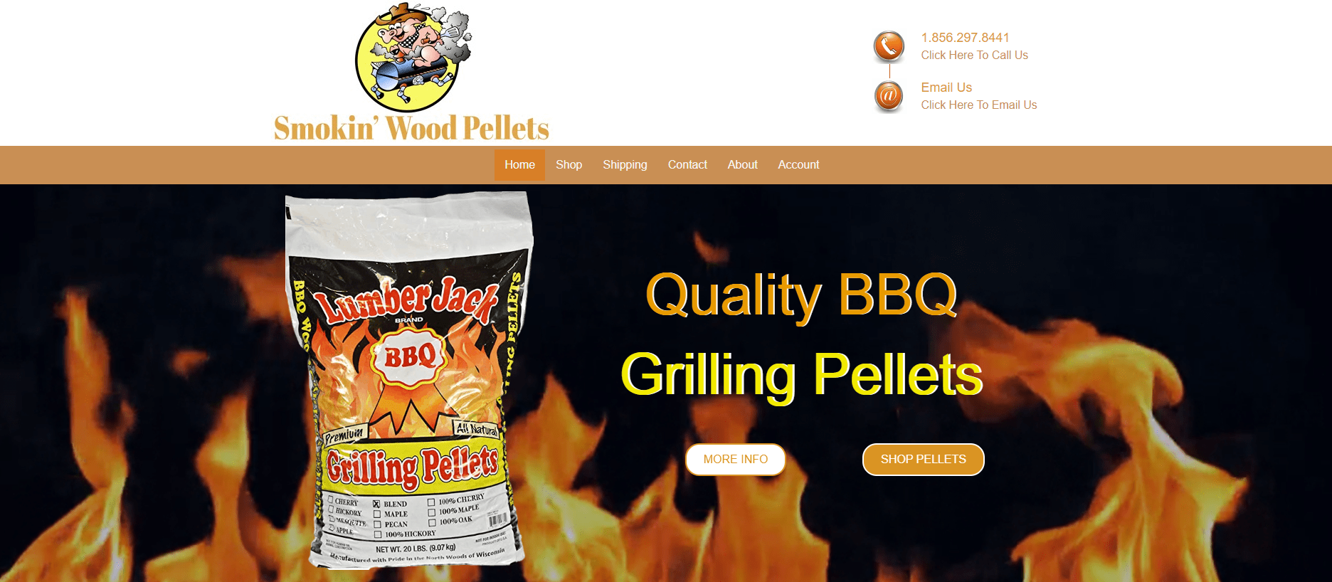 smokin wood pellets
