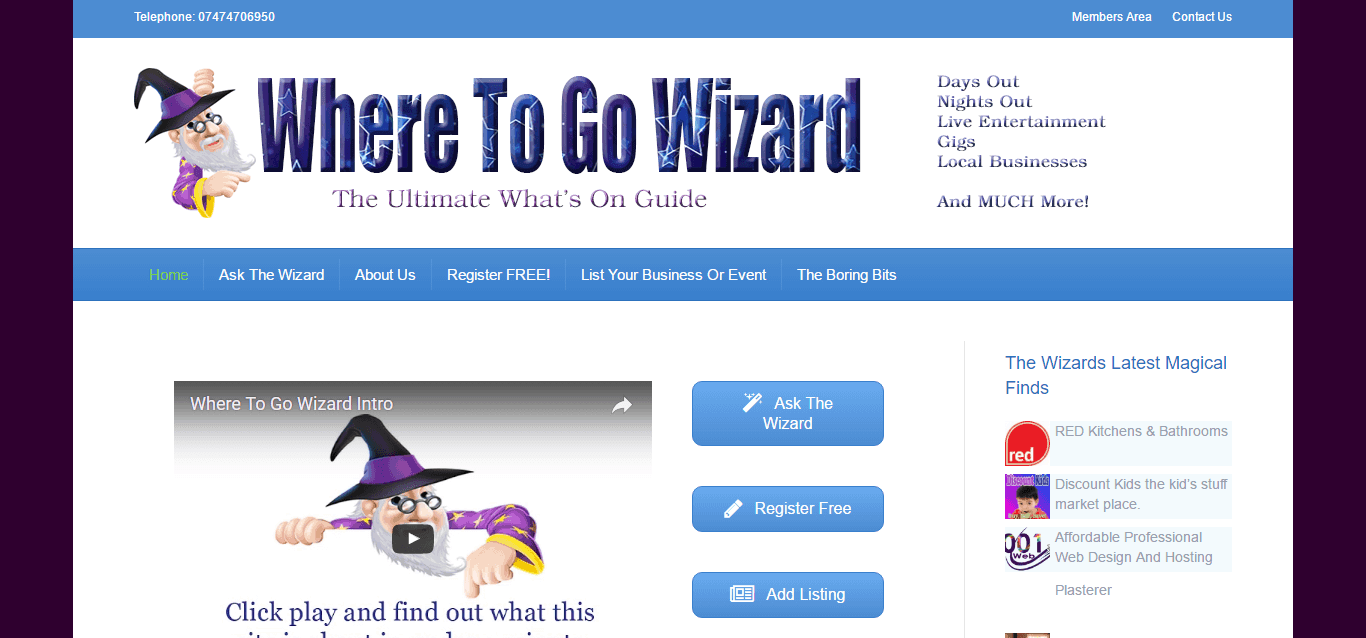 where to go wizard