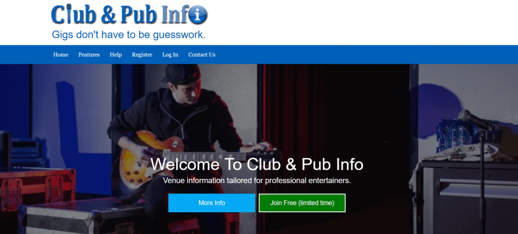 Club And Pub Info – Gigs don-t have to be guesswork- 05-07-2018 20-13-03